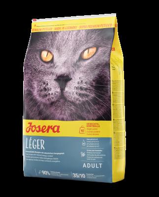 Leger сухой корм супер-премиум класса компании Josera для малоактивных и склонных к полноте,в том числе кастрированных и стерилизованным кошек